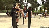 Mona Wales and Steve Holmes whipping two Euro h...