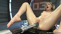 Blonde babe Mona Wales takes of shoes and lifts...