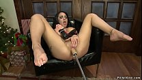 Big tits solo brunette babe Alexa Aimes in ling...