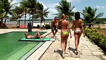 ATOGM Poolside Anal 4-Way! DP Ass to Mouth Anal...
