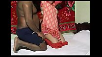 Indian couple fucking under a red carpet decora...