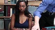 Big titted ebony shoplifter humiliated by a per...
