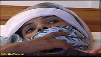 haity bush indian chick enjoys her first big co...