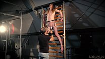 Tied up teen gets punished by her bondage master