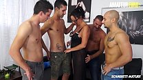 AMATEUR EURO - Hardcore Anal Group Sex With Big...