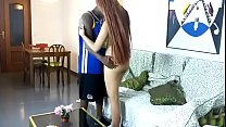The young redhead fucks a BBC that she finds on...