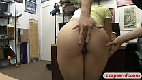 Small boobs and brunette babe gives a nice blowjob
