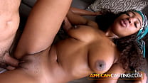Amateur ebony babe with big tits and booty take...