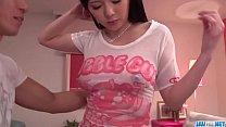 Hot japan girl Risa Shimizu in beautiful sex video