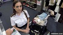 Fucking a hot stewardess in the pawn shop - XXX...