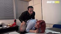 AMATEUR EURO - Redhead Rose Romane Goes Hardcor...