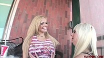 Lesbian Lexxi Tyler picks up busty blonde Emili...