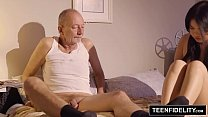 TEENFIDELITY Cindy Starfall Fucks In Front of Old Man Thumbnail