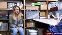 Teen blonde is arrested by an LP officer becaus...