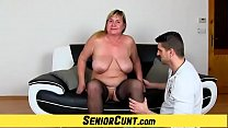 Fat loose twat gaping with plumper amateur lady...