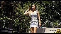 DADDY4K. Coquette makes love to father of her b...