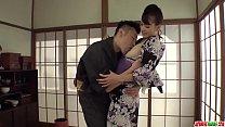 Hot japan girl Yui Oba receive orgasm with man