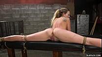 Gagged blonde slave Adira Allure gets pussy vib...