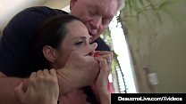 Watch Busty Criminal Cougar Deauxma, lies her way into Ariella Ferrera's house, & fucks her with 2 horny hard thugs! Ariella loves it, cum swaps & wishes it would happen more often! preview