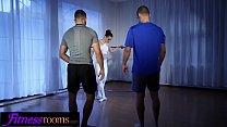 Fitness Rooms Two men take turns fucking Charli...