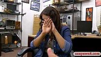 Sexy amateur brunette woman gives a blowjob