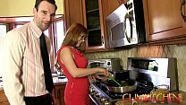 CUM KITCHEN: Redhead Penny Pax gets fucked with a thick dick while cooking's Thumb