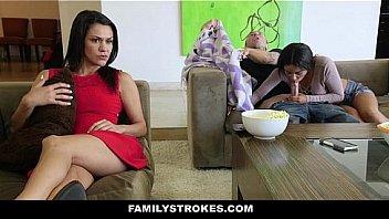 Family Strokes - One Hot Fucking Cozy Night With Stepbro (Maya Bijou)