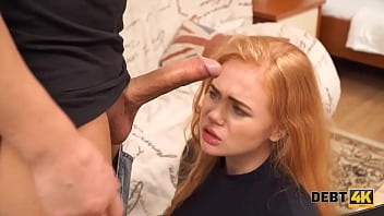 DEBT4k. Fuck is a punishment that waits for the curly Russian waitress