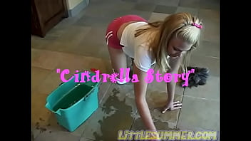 Little Summer getting naked in her kitchen and showing her privates