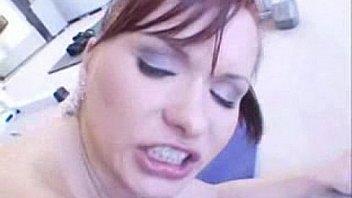 Sexy redhead Katja Kassin gym fuck
