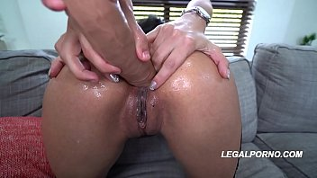Big butt porn star Aaliyah Hadid rides 2 massive cocks with her asshole & pink