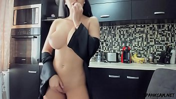 Love the orgasm in the kitchen