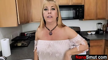 Hot granny asks grandson to fix her pipe