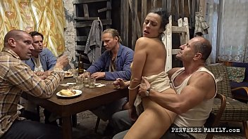 Horny Wife Gangbanged by Friends