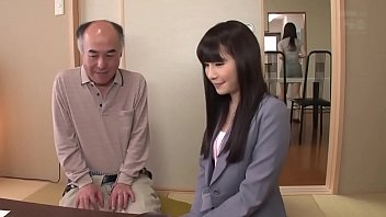 Pretty Japanese girl fucked by old guy