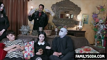 Adams family group fucking cosplay