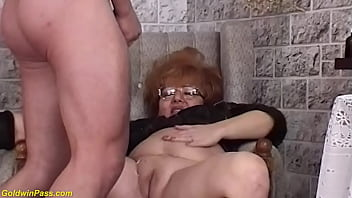 big boob bbw redhead mature witch gets rough tight hairy pussy fucked by her toyboy