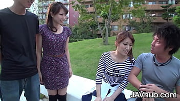 Sexy Japanese swingers fuck then switch partners