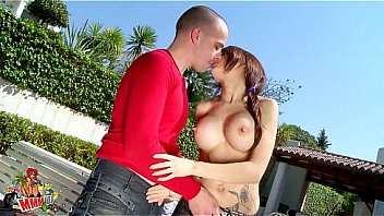 Skinny spanish slut with big boobs fucked by the pool
