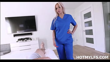 Blonde Milf Stepmom With Big Tits Uses Her Family Nursing Skills On Young Skater Stepson Pov thumbnail