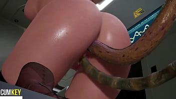 Big Ass Slut Fuck with Tentacles | 3D Hentai | Lovecraft FallenDoll