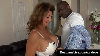 Dick Drilled Cougar Deauxma sucks & fucks a big black cock repo-man, who stuffs her older pussy with his chocolate cock so he'll remove her debt! Full Video & Deauxma Live @ DeauxmaLive.com!
