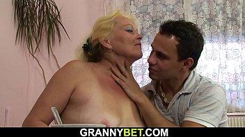 Big dick fucks old woman
