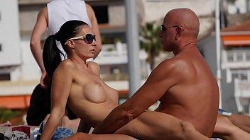 Couple Dry-Hump on Public Beach