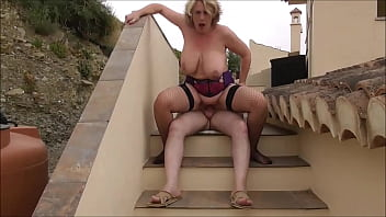 Camilla and Mr. Creampie are away on holiday in a secluded villa in Spain and are using all of the facilities