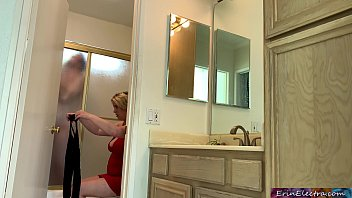 Watch New wife cheats and fucks her stepson while her husband is in the shower preview