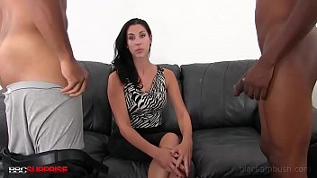 Hot Office Girl Daphne Fooled Into Fucking 2 BBCs!