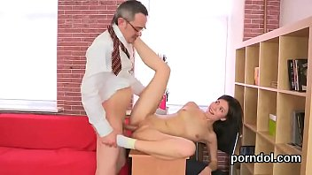 Lovesome schoolgirl gets seduced and poked by her senior schoolteacher