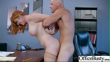 Sex Adventures With Big Tits Office Horny Slut Girl (Lauren Phillips) mov-14
