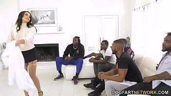 BBC Slut Avi Love Wants 6 Black Men Gangbang And DP Her